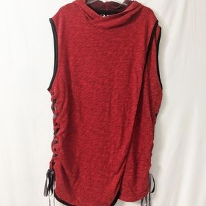 Plus Size Champs Hooded Tank with Tie Sides 2XL